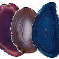 Agate Slice Assorted Colors; Large 14-18.5 Square Inch w Info Card