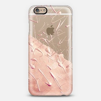 Pastel Rose Gold Rain (transparent) iPhone 6 case by Lisa Argyropoulos | Casetify