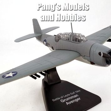 Grumman TBF Avenger Torpedo Bomber US NAVY - 1/72 Scale Diecast Metal Model by Atlas