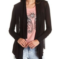 Long Sleeve Waterfall Cardigan by Charlotte Russe