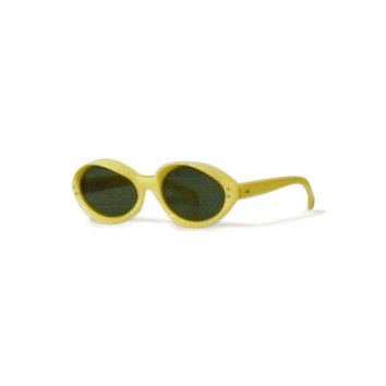 1950s Vintage Yellow Cat Eye Sunglasses
