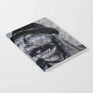 Dark and dirty - submissive gagged girl abstract variation, altered, surreal adult photography Notebook by hmdesignspl