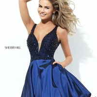 Sherri Hill Short Beaded A Line Dress 50749