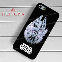 Star Wars Millennium Falcon Space Ship -end for iPhone 4/4S/5/5S/5C/6/6+,samsung S3/S4/S5/S6 Regular/S6 Edge,samsung note 3/4