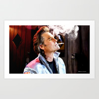 Kurt Russell as Stuntman Mike McKay in the film Death Proof (Quentin Tarantino - 2007) Art Print by Gabriel T Toro