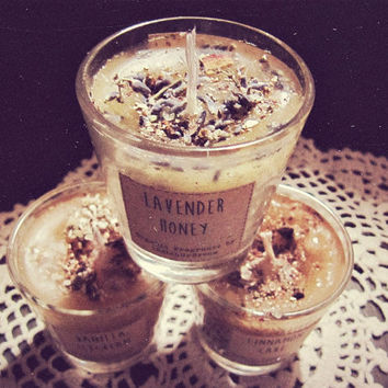 Aromatherapy Scented Candles Set - Bohemian Bakery - Essential Oil Candles - Boho Decor - Home Fragrance - Vanilla Lavender Cinnamon