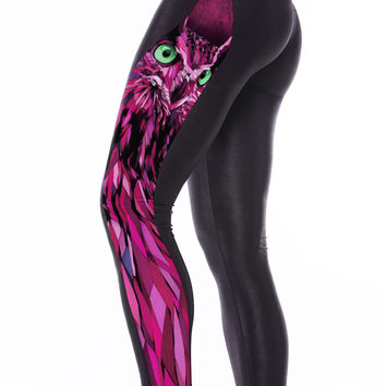 Fuchsia Night Owl Leggings