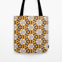 Yellow triangles Tote Bag by g-man