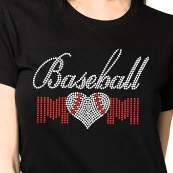 Bling T-Shirt  | Women Baseball Rhinestones - SHIRT | Shop 😊