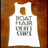 Boat hair don't care open back tank