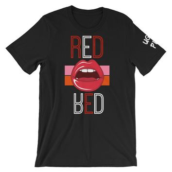 UGLY PINK RED LIPS MENS T-SHIRT