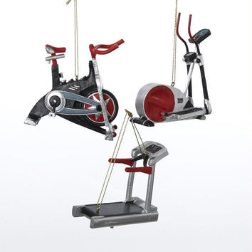 12 Christmas Ornaments - Exercise Equipment