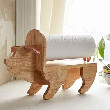 Assembly Home Pig Paper Towel Holder- Brown One