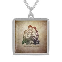 Descendants of the sun square pendant necklace
