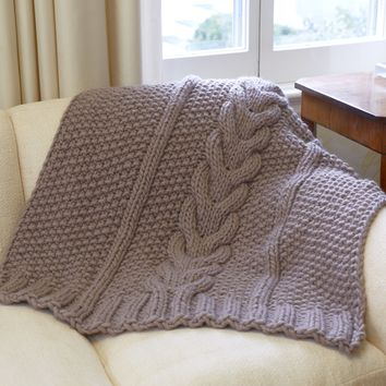 The Horseshoe Cable Blanket - Knit Kit