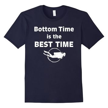 Funny Scuba Diving T-Shirt - Bottom Time - Gift For Divers