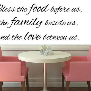 Bless This Food Before Us- Kitchen Vinyl Wall Decal