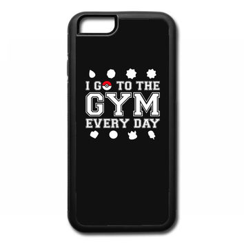 I Go To The Gym Everyday, Pokemon Gym Shirt iPhone 6/6s Rubber Case