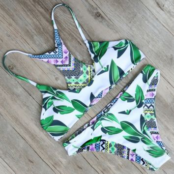 Womens High Neck Padded Bikini Halter Bikini Set Two Piece Swimsuit