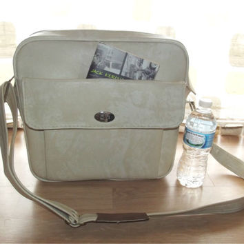 Vintage 60s Ivory Marble Travel Overnight Bag Samsonite Silhouette Retro MOD Carry On Stewardess Luggage Diaper Bag
