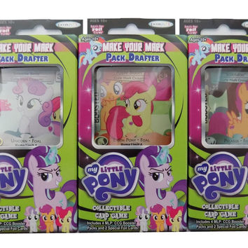 My Little Pony - Collectible Card Game - Marks In Time - Set of 3 Make Your Mark Pack Drafters Bundle