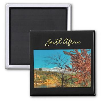 South Africa Winter Autumn Landscape Snow Magnet