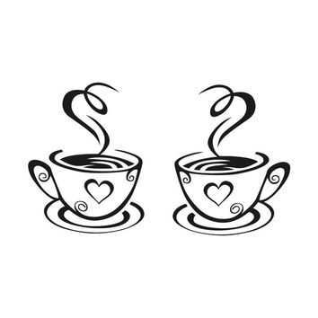 Coffee art decal for any home, restaurant, coffee shop and more.