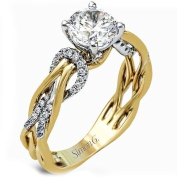 Simon G. Organic Style Intertwining Twist Diamond Engagement Ring