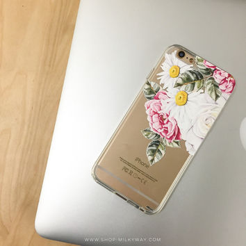 Floral Chandelier - Clear TPU Case Cover