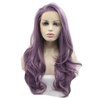 Purple Wave Synthetic Lace Front Wigs