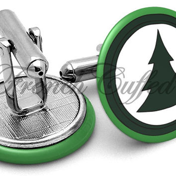 Brickleberry Tree Logo Cufflinks