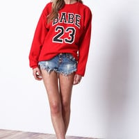 BABE 23 SWEATSHIRT IN RED