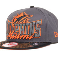 Miami Dolphins NFL Graphite Out and Up 9FIFTY Snapback Cap