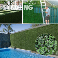 """Decorative Plastic Plants Screening Fence 48Pcs 10"""" By 10"""" Uv Sgs Artificial Boxwood Hedges Panels Garden Grass Ivy Fencing"""