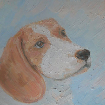 Custom Painting Dog Portrait from Photo Pastel Color Stretched Canvas Interior Wall Decor Art Russian Artist Original Animal Artwork Palette