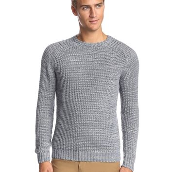 Billy Reid Men's Solid Saddle Crew Sweater at MYHABIT