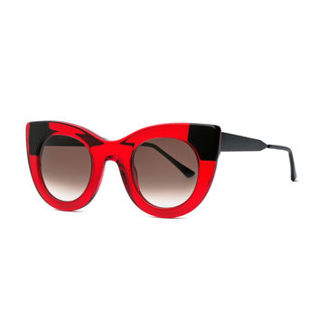 Cheeky Cat-Eye Sunglasses, Red - Thierry Lasry