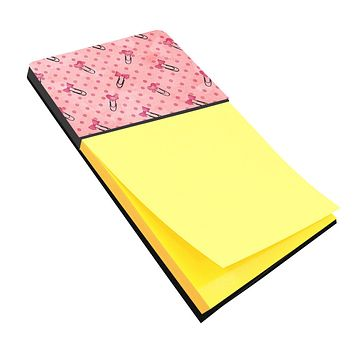 Watercolor Paper Clips and Polkadots Pink Sticky Note Holder BB7543SN