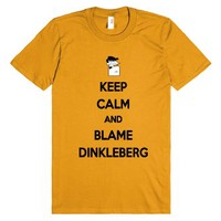 Keep Calm and Blame Dinkleberg-Unisex Mandarin Orange T-Shirt