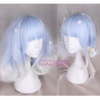 Blue White Lolita Curl Wig SP166826