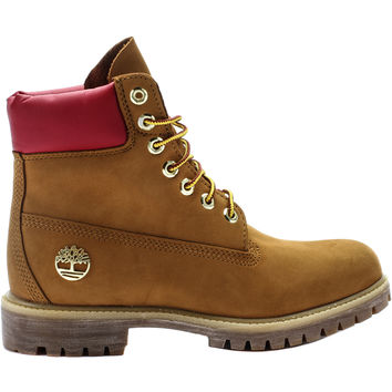 Timberland 6149 6 Inch Premium Shoe Palace Exclusive Waterproof Mens Boot (Wheat/Red) at Shoe Palace