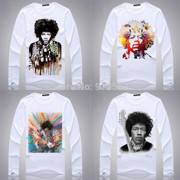 JIMI HENDRIX long full sleeve men women unisex t shirt cool sports fashion rock fans