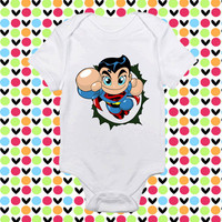 Superman baby shirt Onesuit, Superman baby clothing, Superman baby Onesuit