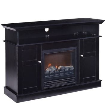 """42"""" Living Room TV Stand with Electric Fireplace"""