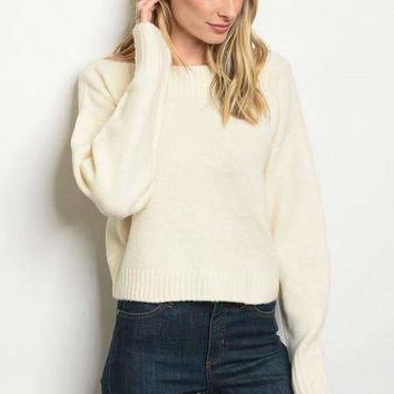 Boatneck Sweater - Cream