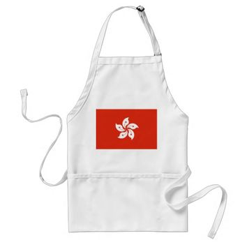 Apron with Flag of Hong Kong, China