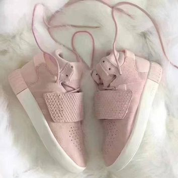 """Adidas"" Tubular lnvader Strap 750 Pink Women's Sneakers Running Sports Shoes I"