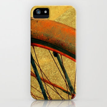Vintage Bike Fall Home Decor Color iPhone Case by Stacy Frett
