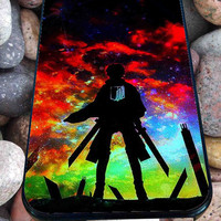 Attack on titan logo for iPhone 4/4s/5/5S/5C/6, Samsung S3/S4/S5 Unique Case *95*