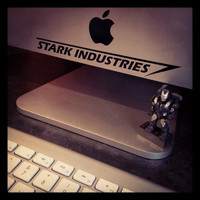 Iron Man Stark Industries Vinyl Decal - iPad / tablet / car / laptop